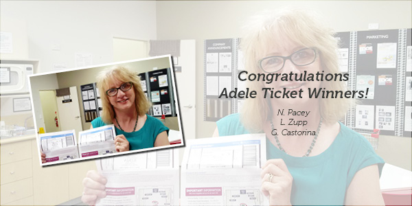 Adele ticket winner picture