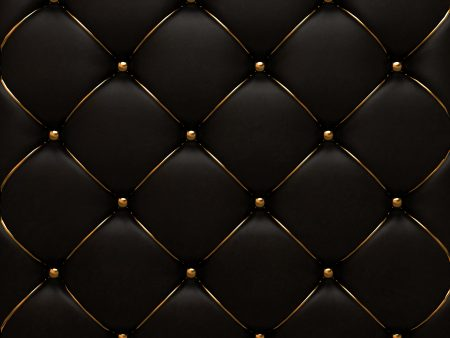The gold texture of the leather quilted skin