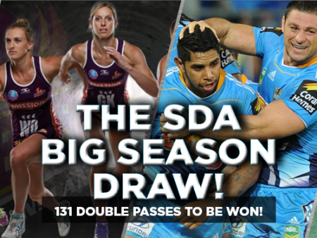 Win tickets to sports matches with the SDA