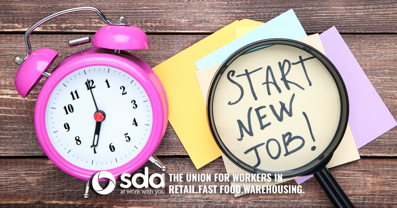 SDA New Job in Retail, Fast food or Warehousing Checklist